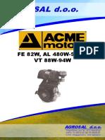 ACME FE82W, AL480W-550W, VT 88W-94W