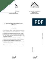 UFTM - 2008 - 2ª Fase - Psicologia