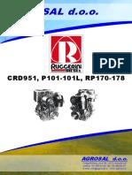 RUGGERINI CRD951, P101-101L, RP170-178