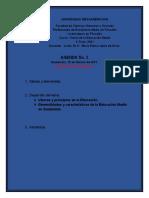 Agenda No. 2, Teoría de la Educación