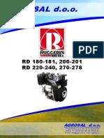 RUGGERINI RD180-181, RD200-201, RD220-240, RD270-278