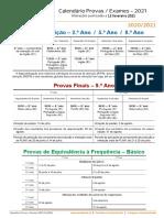 Calendario ProvasFinais Exames 2021 Fev2021