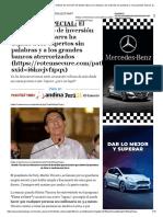 INFORME ESPECIAL_ El último método de inversión de Martin Vizcarra ha dejadoa los expertos sin palabras y a los grandes bancos aterrorizados