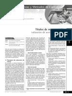 TITULOS DE RENTA VARIABLE - VALUACION DE ACCIONES PARTE 23
