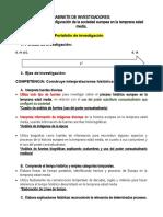 PORTAFOLIO DE INVESTIGACIÓN  2do año sec. replanteamiento HGE avance 2