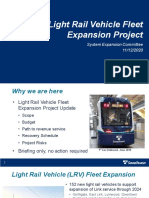 Sound Transit - Light Rail Vehicle Fleet Expansion Presentation - November 2020