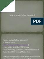 Alamat Suplier Bahan Baku Aktif