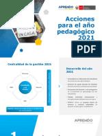 Acciones para el año pedagógico  2021