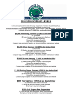 2018 GCGC Sponsorship Form