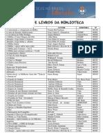 Lista de Livros - Por Ordem Alfabtica