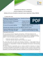 Syllabus del curso  Estadística Descriptiva (para agrarias)