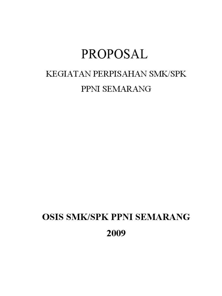 Proposal Perpisahan