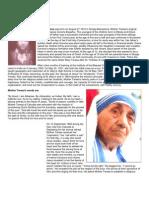Life History of Mother Teresa