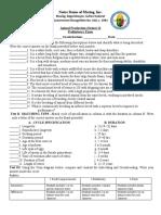Animal Production Swine Grade 12 Test Questioner 1st Sem