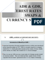 INTEREST RATES AND CURRENCY SWAPS, ADR &