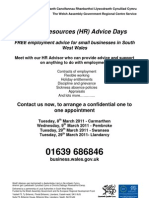 HR Advice Day Flyer March 11