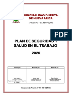 PLAN ANUAL DE SEGURIDAD Y SALUD EN EL TRABAJO MDNA 2020