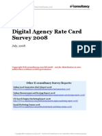 Agency Rate Card Survey 2008