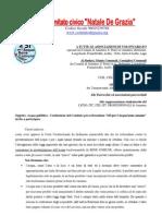 Acqua Pubblica - Lettera Invito Per Costituzione Comitato Amantea e Dintorni Referendum