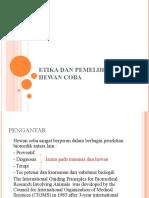 Copy of Etika dan Pemeliharaan Hewan Coba