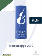 Pressemappe Cello Akademie Rutesheim