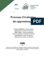 Processus d'Evaluation Des Apprentissages