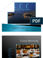 Seaport Catering Company Event Menus