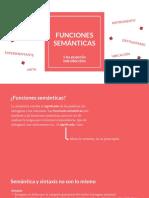 FUNCIONES SEMÁNTICAS (bachillerato)
