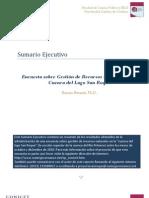 Encuesta de Gestion de Recursos Naturales cuenca San Roque