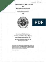 AASHTO Standard Specifications For Highway Bridge