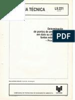 Norma CETESB L9.221 - teste de vazão de equipamentos