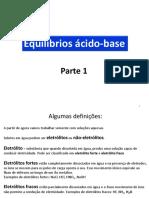 Equilibrio Acido-base - Parte 1
