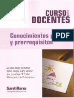 Concurso Docente Conocimientos Previos Ccesa007