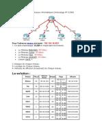 Catégorie Exercice corrigé Adressage IP VLSM
