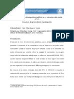 Las estrategias de divulgación científica en la estructura del portal ATLAS Resumen de proyecto de investigación