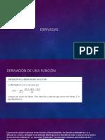 01 derivadas y regla de derivación