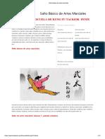 Salto básico de artes marciales