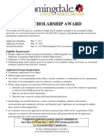 2021 Bloomingdale Civic Association Scholarship Flyer_final