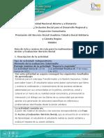 Guía de ruta y avance  de ruta para la realimentación - Fase 3 - Acción y Evaluación