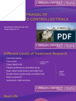 Critical Appraisal of Randomised Controlled Trials