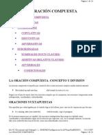LA ORACIÓN COMPUESTA   INGLES
