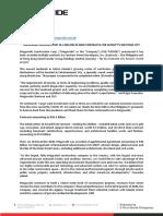 HLD. FIN. IRO Press Release Suncity. FTA.AKS 02 12 21_for release