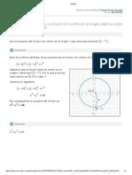 dar la ecuacion del circulo