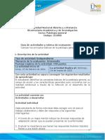 Guía de Actividades y Rúbrica de Evaluación - Unidad 2 - Fase 2 - Conocer Los Principios Básicos de La Patología General