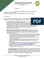 COMUNICADO PROCESO  2020 -PLATA (1)