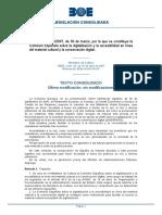 Orden CUL10142007, se constituye la Comisión Española sobre la digitalización y la accesibilidad en línea del material cultural y la conservación digital.