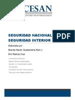 SEGURIDAD NACIONAL E INTERIOR Avance 3 BRENDA Y ERIC