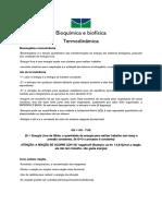 Bioquímica e biofísica -  Termodinâmica (aula 1)
