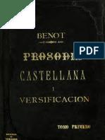 Benot - Prosodia Castellana y Versificación