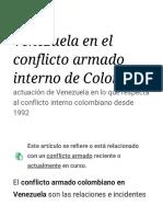 Venezuela en el conflicto armado interno de Colombia - Wikipedia, la enciclopedia libre